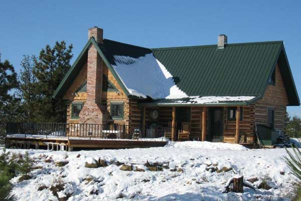 after log cabin whole house remodel