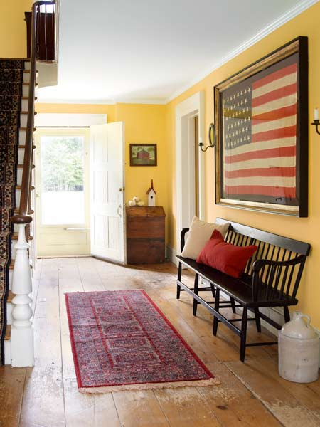entry hallway from before civil war in whole house remodel farmhouse addition