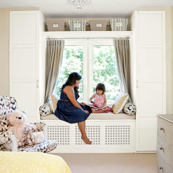 Window seat and wardrobes home bloggers 39 crafty ways to for Best ways to save money when building a house