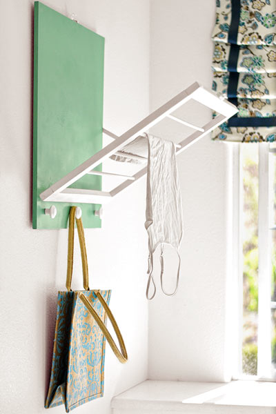 money saving blogger DIY project drying rack