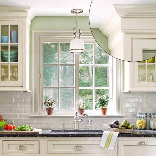 crown molding designs classical revival style trim on kitchen cabinet tops