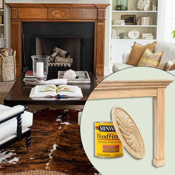 get this look naturalist living room with georgian style stained mantel