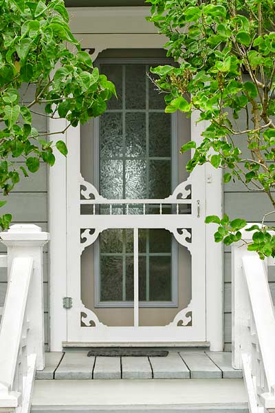 easy thrifty vintage charm update exterior screen door