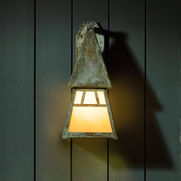 easy thrifty vintage charm update porch light finished to look antique
