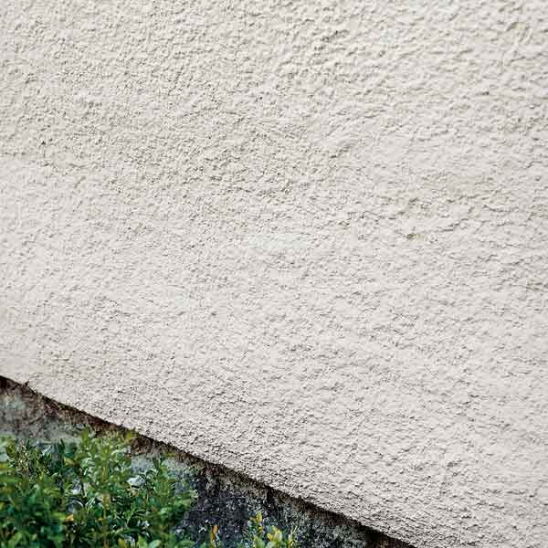 painted stucco exterior wall