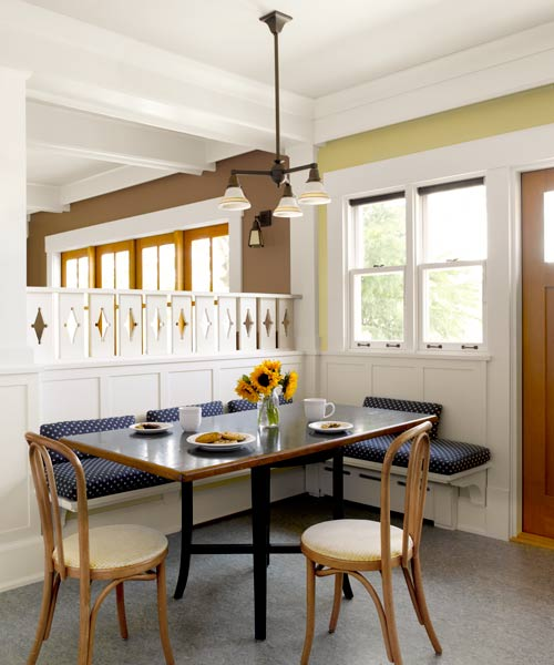 easy upgrade custom look crafstman style divider in dining area