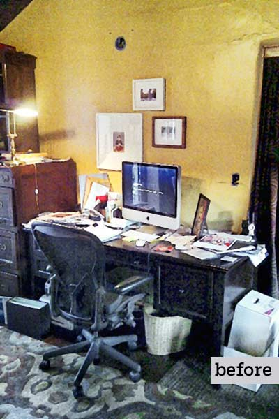 before remodel women's den desk area