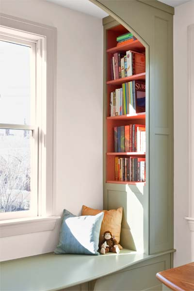 recessed bookcases from the paint shelves gallery at this old house dot com