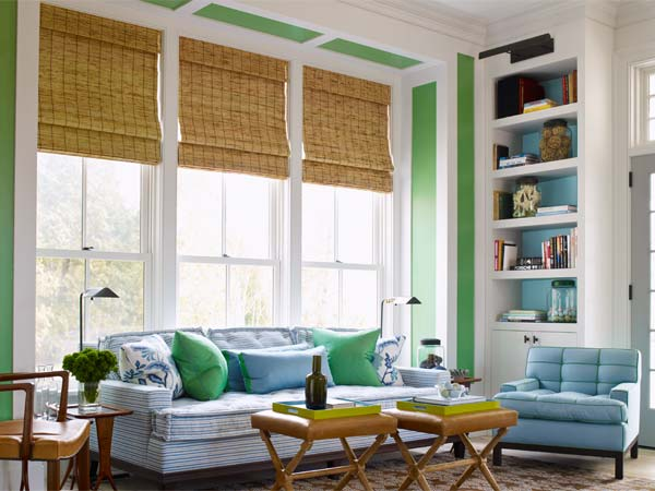turquoise ties together a sunny space from the paint shelves gallery at this old house dot com