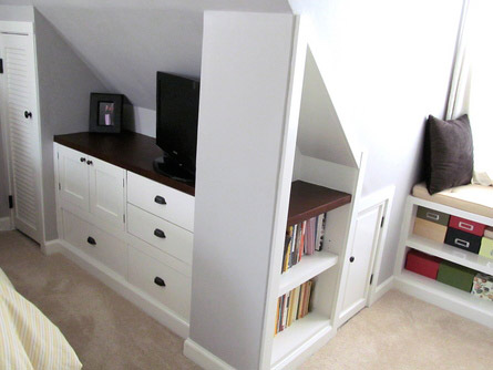 Attic Bedroom Remodel With Built In Storage This Old House Pinterest