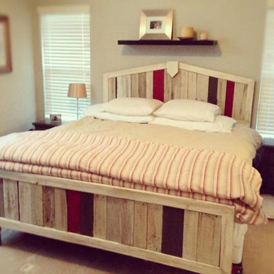 bed frame made with painted shipping pallets, this old house pinterest profile top pins of 2013