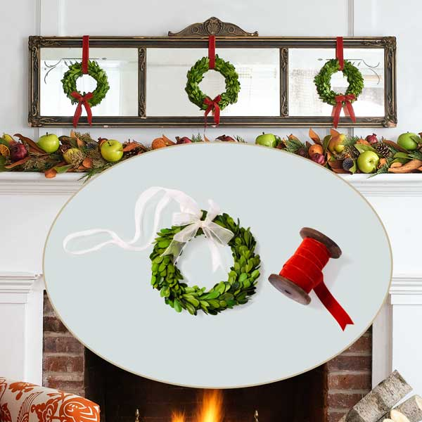 Mini Wreaths to Create a Colorful Holiday Hearth