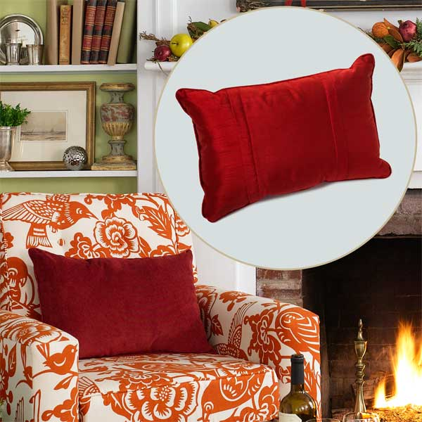 Throw Pillow to Create a Colorful Holiday Hearth