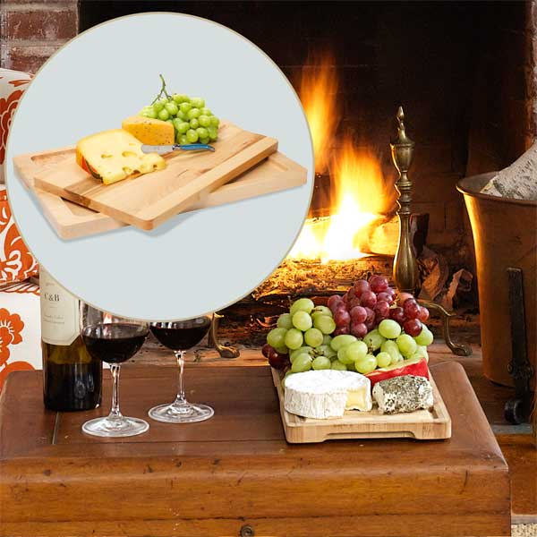 Maple Tray  to Create a Colorful Holiday Hearth