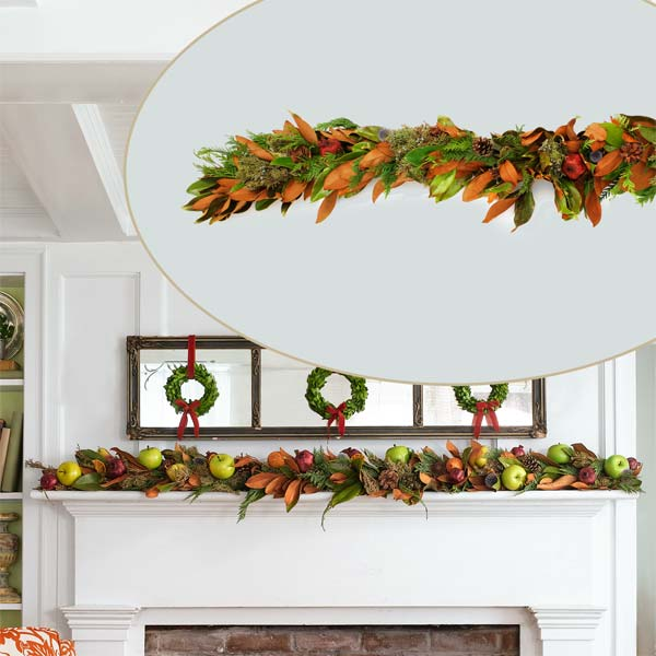 a D I Y Garland to Create a Colorful Holiday Hearth