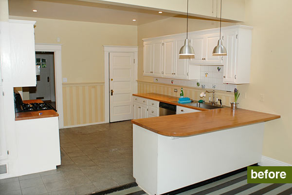 open kitchen remodel before