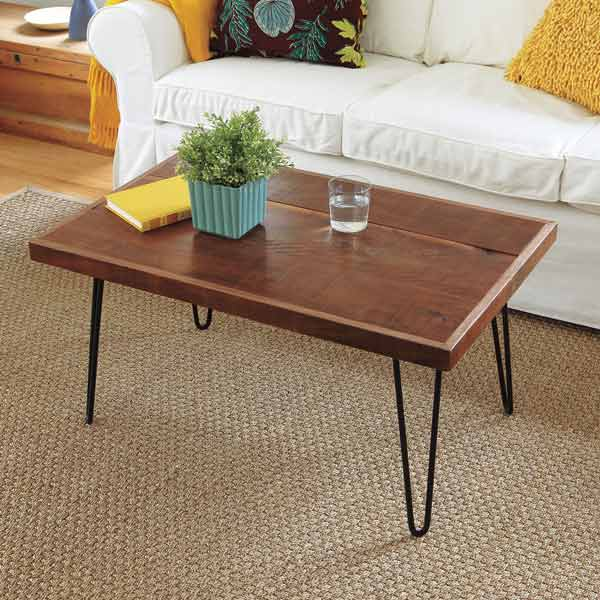 Hairpin leg coffee table 27 ways to build your own for Bedroom coffee table
