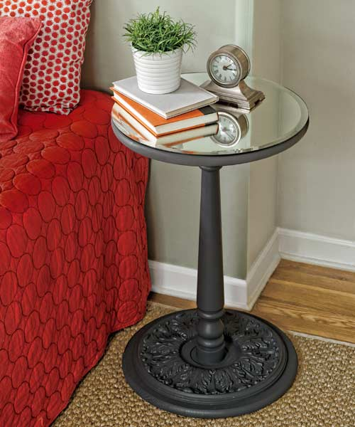 bedroom furniture step by step projects mirror-topped accent table