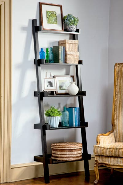 bedroom furniture step by step projects Ladder Bookshelf