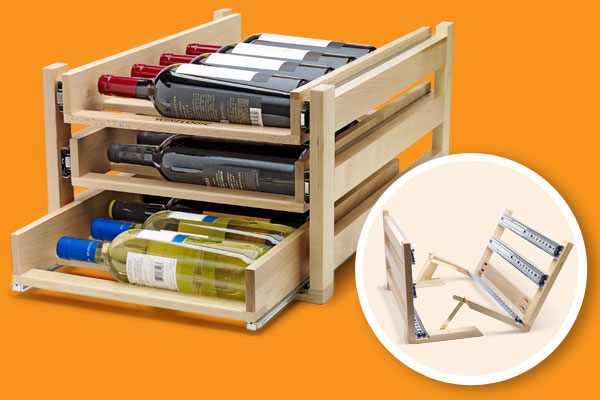 a wine-rack storage unit