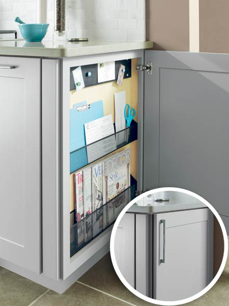a cabinet designed to organize paperwork and magazines