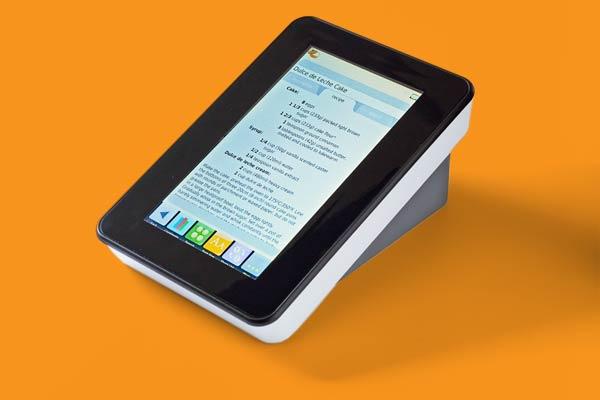 a digital recipe storage device