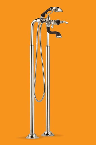 showerhead faucets for freestanding tubs