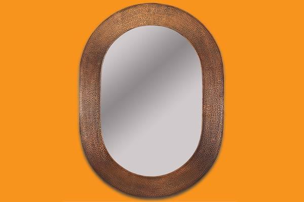 an oval mirror
