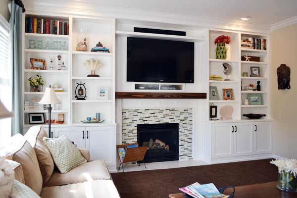 Entertainment Center Transformation: After from this old house reader remodel Best Built-Ins Before and Afters 2013