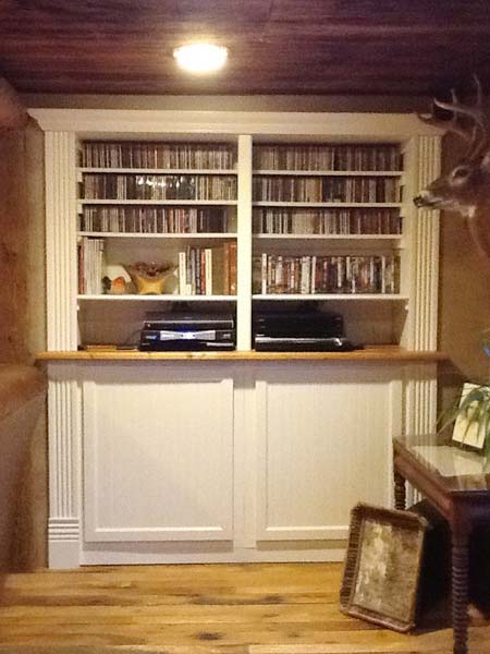 Rustic Room Built-in: After from this old house reader remodel Best Built-Ins Before and Afters 2013