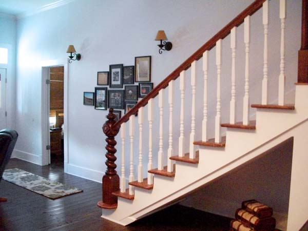 A Stairway Transformed: After from this old house reader remodel Best Built-Ins Before and Afters 2013