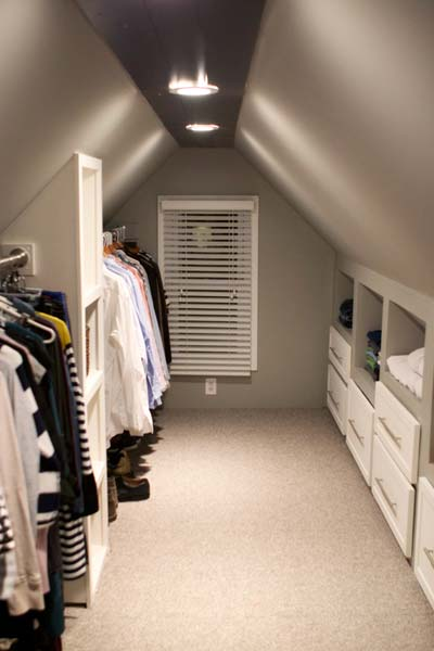 Closets on pinterest closet attic closet and reach in for Adding a walk in closet