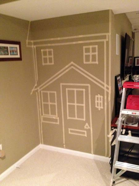 Kids' Basement Built-in Playhouse: Before from this old house reader remodel Best Built-Ins Before and Afters 2013