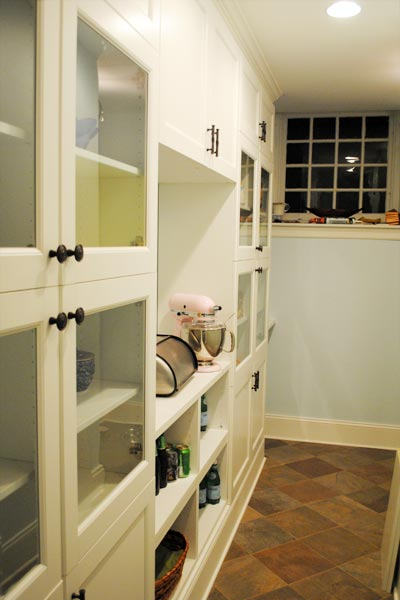 Pantry Retrofit Using Entertainment-Center Cabinets  this old house reader remodel pantries contest 2013