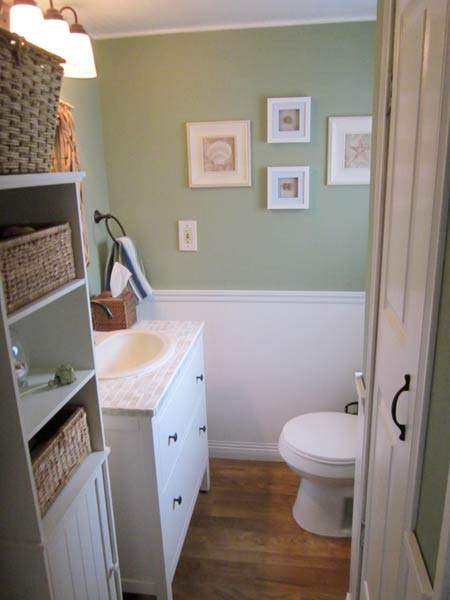 Half Bath Renovated Into A Cozy Space With Lots Of Charm