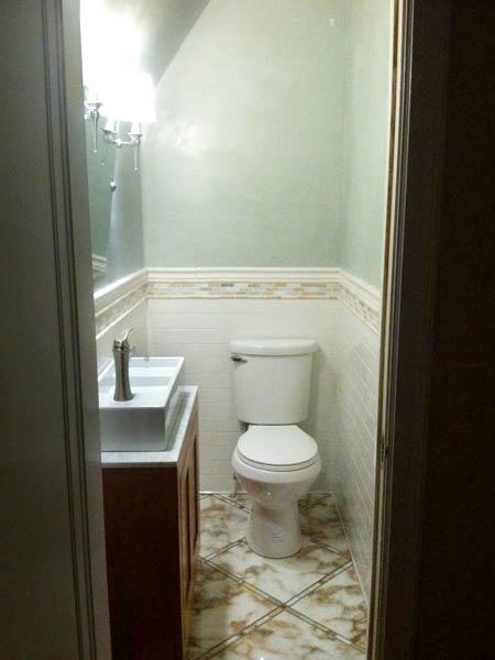 Custom Fixture Maximizes Space: after reader remodel contest 2013 half bath remodels