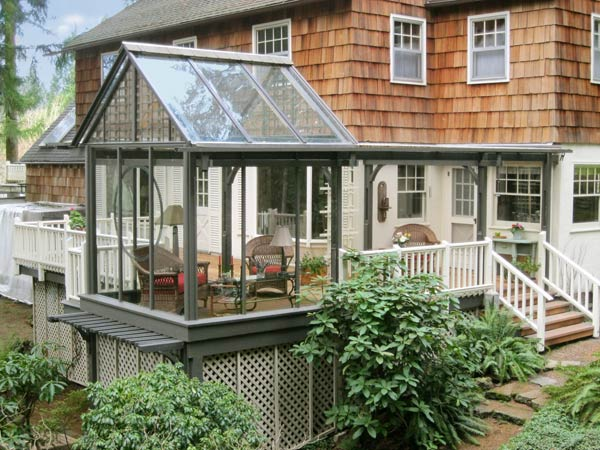 Cedar and glass beauty 17 stunning decks to inspire your for Cedar sunroom