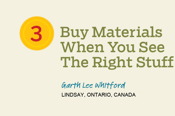tip for buying materials for a remodeling project when you see them available