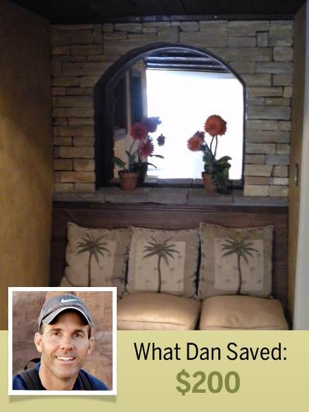 homeowner Dan Herman and his cost-saving shortcut