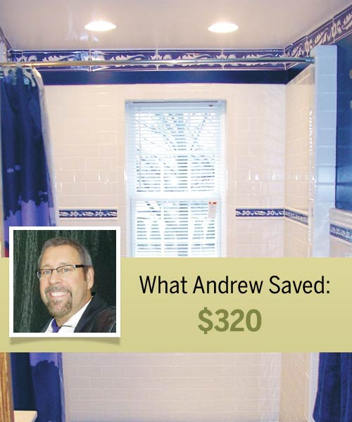 homeowner Andrew Dirks and his cost-saving shortcut