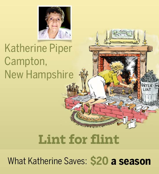 homeowner Katherine Piper and an illustration of her cost-saving shortcut