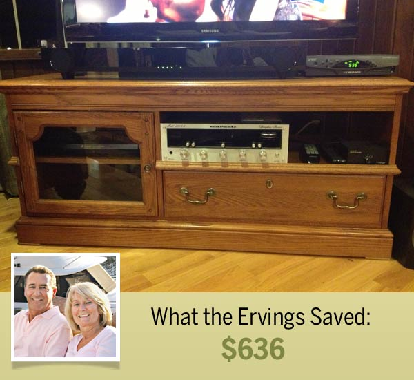 homeowners Mike and Pat Erving and their cost-saving shortcut