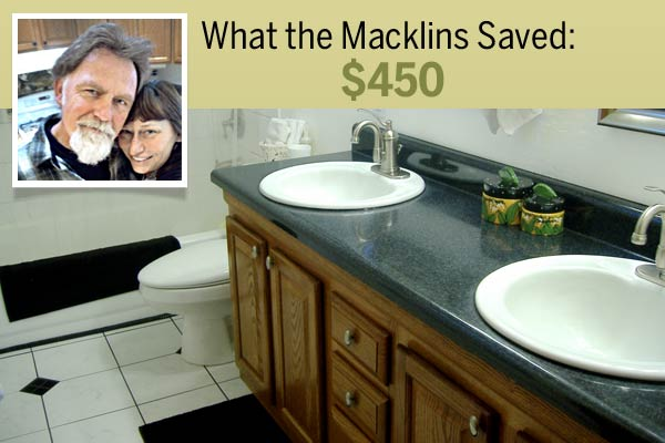 homeowners Shannon and Gail Macklin and their cost-saving shortcut