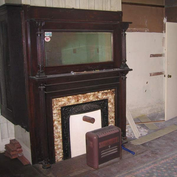 save this old house danville virginia italianate original fireplace surround with matching built-in cabinet