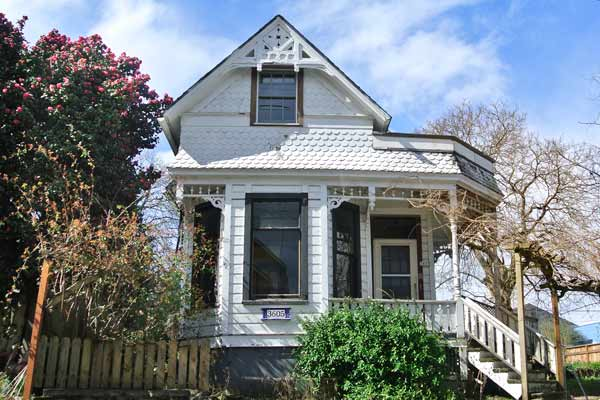 folk victorian cottage exterior, portland oregon, save this old house