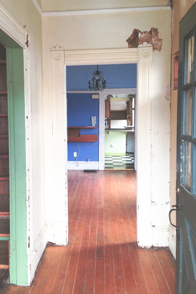 folk victorian cottage hallway, portland oregon, save this old house