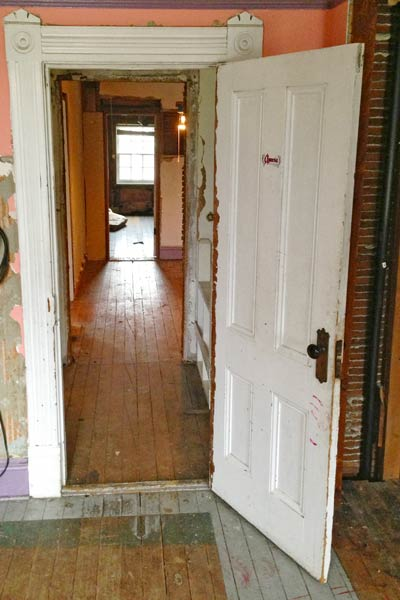 folk victorian cottage hallway with bedrooms, portland oregon, save this old house