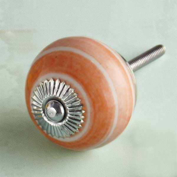 Shades of Orange Ceramic Cabinet Knob