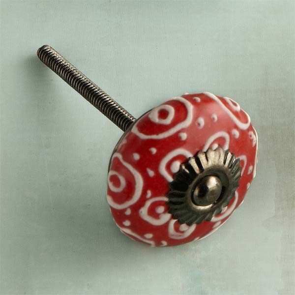 Hot Stripes Ceramic Cabinet Knob