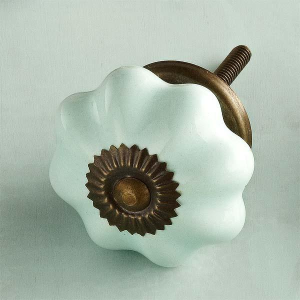 Classic Melon Ceramic Cabinet Knob